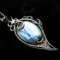 ALUNHTIOR - silver and labradorite by LUNARIEEN