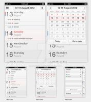 iPhone App Concept - Calendar - Week view by sicfess
