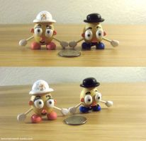 Mr. and Mrs. Potato Head Mini Potato Version! by whatonearth