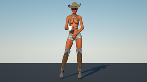 Jaime Cowgirl with Coffee WIP by Gator762
