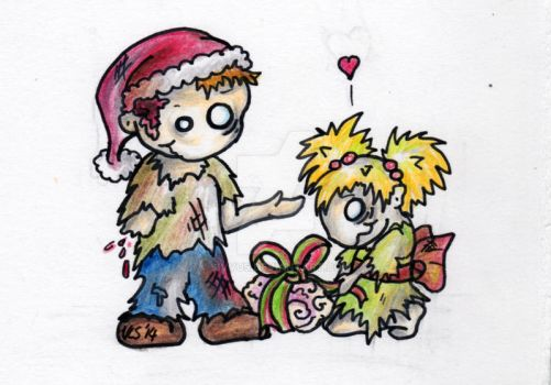 Zombie Christmas Card Design 4/4 by sivvus