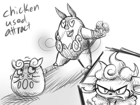 Chicken used Attract by Flygon017