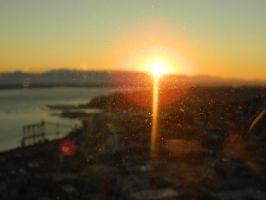 sunset over Seattle by bloody-magpies