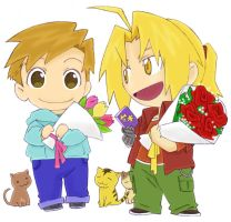 Rq- Chibis Edward and Alphonse by DigiAngeFan