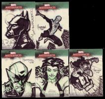Marvel Masterpiece Card Set 3a by BenHerrera