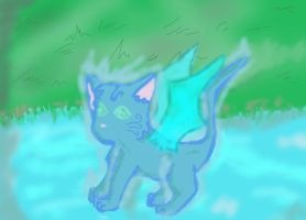 Water Cat Spirit by mintykoneko