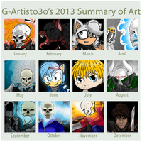 Gabbyartisto3o's 2013 Summary of Art by Gabbyartisto3o