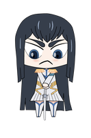 Chibi Kiryuin Satsuki Colored by brain-in-a-wat