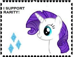 I Support Rarity Stamp by Teamscout11