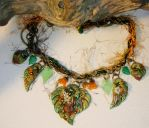 Green Girl Necklace by elvenelysium