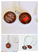 Keep Calm and Domo On - Pendant Necklace by artshell