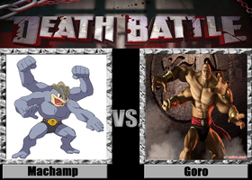 Death Battle idea Machamp vs Goro by kingdomofsantiago1