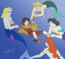 Peter and Mermen by tilywendy