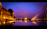 Louvre by night by LeMex