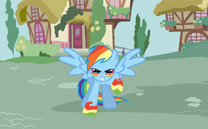 Rainbow Dash Vector by Draw2134