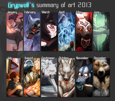 Summary of art 2013 by Grypwolf
