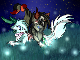 2.Love - A glowing flower by NewMoon-Dragoness