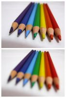 Rainbow Pencils by goodnightandgoodbye