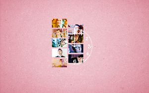 Tenth Doctor Wallpaper - Pink by peppermintfrogs