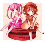 Two Little Macaroons by Limauu