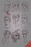Character Head doodles 02 by Matiush83