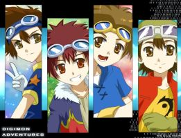 Digimon:Goggle bois by meru-chan