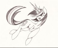 Twilight Sparkle Action Pose by EraserRain16