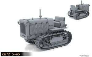 Tractor ChTZ S-65 (High poly modeling) by Opara