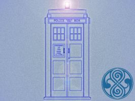 TARDIS Wallpaper 2 of a Series by Carthoris