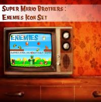 Super Mario: Enemies Icon Set by ashelynn