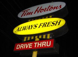 Irony at Tim Horton's by josmith