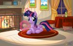 Twilight Sparkle at Fireplace by mysticalpha