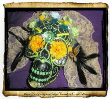 Monarch Sugar Skull by grimdeva