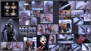 Thane Krios WIP: Mask and Weapon Gallery by ManticoreEX