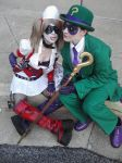Riddler, Harley and her Phone by DrJekyllMrHyde