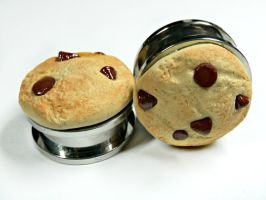Chocolate Chip Cookie Plugs by kawaiibuddies