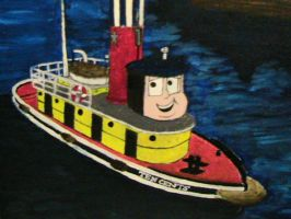 TUGS Painting: Ten Cents by cruiseshipz