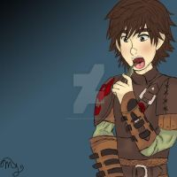 Hiccup Eating a Fish Because Why Not by ChiisaiKabocha17