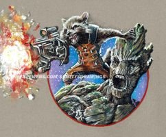 Guardians Of The Galaxy - Rocket And Groot (2014)  by scotty309