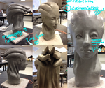 Sculpture Class Assignment! by CadmiumGoddess