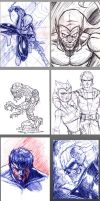Work Scribbles 2011 part 1 by Kenpudiosaki