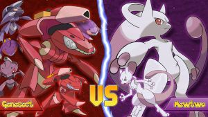 Genesect Vs Mewtwo by Monstradon