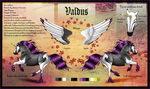 Valdus: Ref Sheet by Crimson-Mane