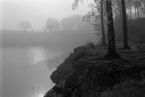 Quarry in Fog by BAproductions