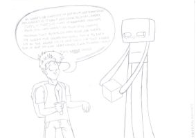 Toby Turner Enderman Roommate by RUBYREDMOND