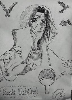 Itachi Uchiha by bountyhunter84