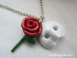 Phantom of the Opera Necklace by puddingfishcakes