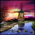 Windmill Sunset by Stroody
