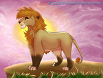 The Lion of the golden mane by YazukyYuu