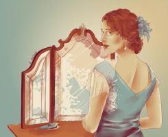 In the mirror by AzurLazuly